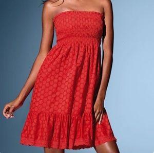 Victoria Secret Smocked Print Midi Dress
